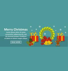merry christmas banner horizontal concept vector image