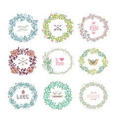 set of colorful wreath vector image