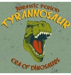 Aggressive tyrannosaurus head vector image vector image
