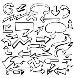 arrows set sketch vector image vector image