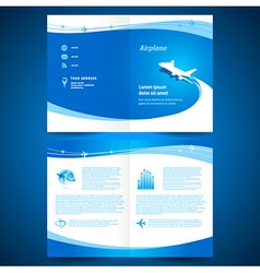 booklet catalog brochure folder airplane airline vector image