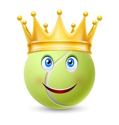Golden crown on ball for tennis vector image