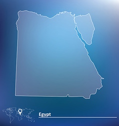 Map of Egypt vector image vector image