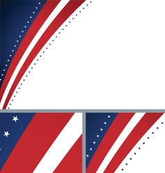 American Abstract Presidential Elections Stars vector image vector image