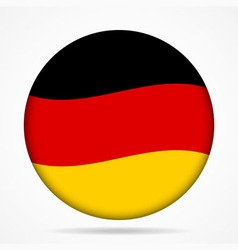 Button with waving flag of germany vector