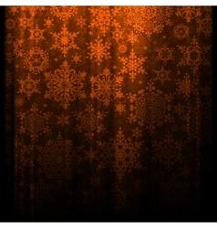 Christmas snowflakes falling EPS 10 vector image