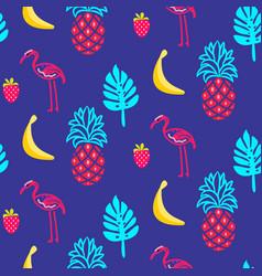 flamingo blue summer seamless texture vector image
