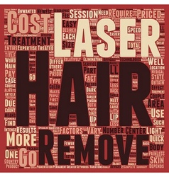 Laser Hair Removal Cost main factors text vector image vector image