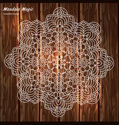 openwork mandala vector image