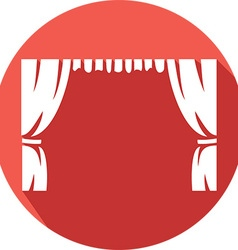 Theater curtains icon vector