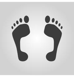 The footprint icon foot symbol Flat vector image