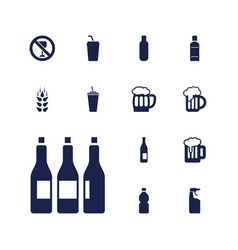 13 beer icons vector