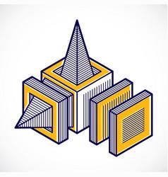 Abstract 3d geometric shape polygonal figure vector