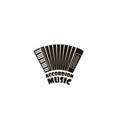 abstract accordion emblem vector image