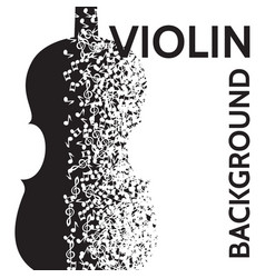 Abstract background with violin and notes vector