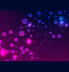 abstract light background bokeh effect hexagons vector image