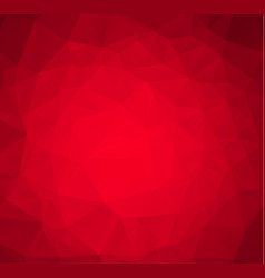 Abstract red white polygonal mosaic background vector
