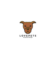 Animal pets dog american staffordshire terrier vector