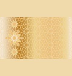 Arabic golden pattern vector