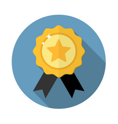award medal icon vector image