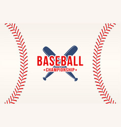 Baseball background ball laces stitches vector