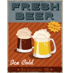 Beer retro poster vector