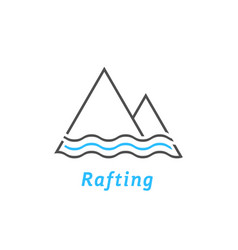black and blue rafting logo vector image vector image