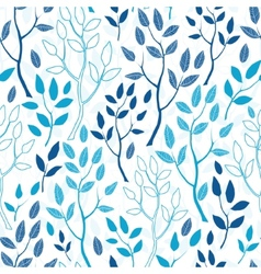 Blue forest seamless pattern background vector