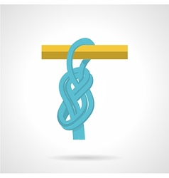 Blue rope knot flat icon vector
