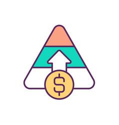 capital raising rgb color icon vector image