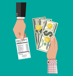 Cash payments concept vector