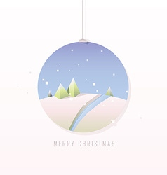 Christmas polygonal design in bauble vector image