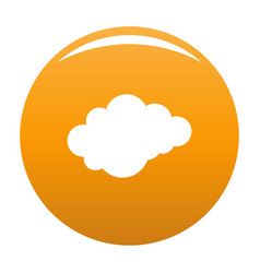 Cloud with downfall icon orange vector