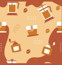 coffee seamless pattern background logo icon vector image