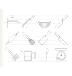 cooking equipment vector image