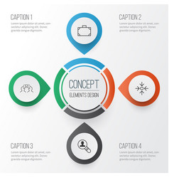 corporate icons set collection of cooperation vector image