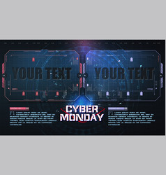 cyber monday technology circuit style background vector image