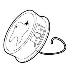 Dental floss icon outline vector
