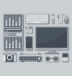 Devices in Flat Style vector