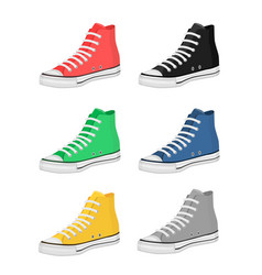 different kind shoes vector image