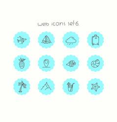 Doodle icons set isolated on white web icons set 5 vector