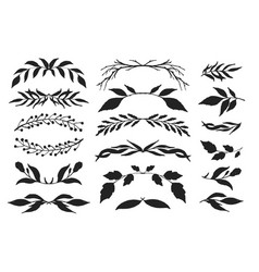 drawing ink floral dividers and borders vector image