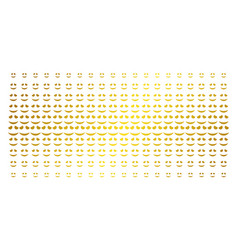 embarrassed smile gold halftone matrix vector image