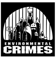 Environmental crimes vector