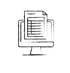 Figure computer document information and business vector