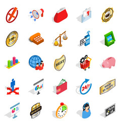 Fiscal icons set isometric style vector