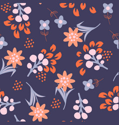floral violet red seamless pattern vector image