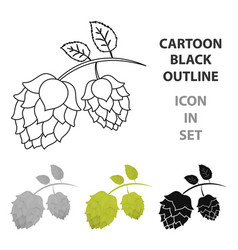 hops icon in cartoon style isolated on white vector image