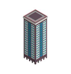 isometric skyscraper city building vector image