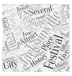 Jacksonville florida Word Cloud Concept vector